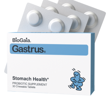 BioGaia Gastrus is a probiotic that has shown to reduce constipation in adults. Food Farmacist RD breaks down the ins and outs of probiotics. Click to learn more.