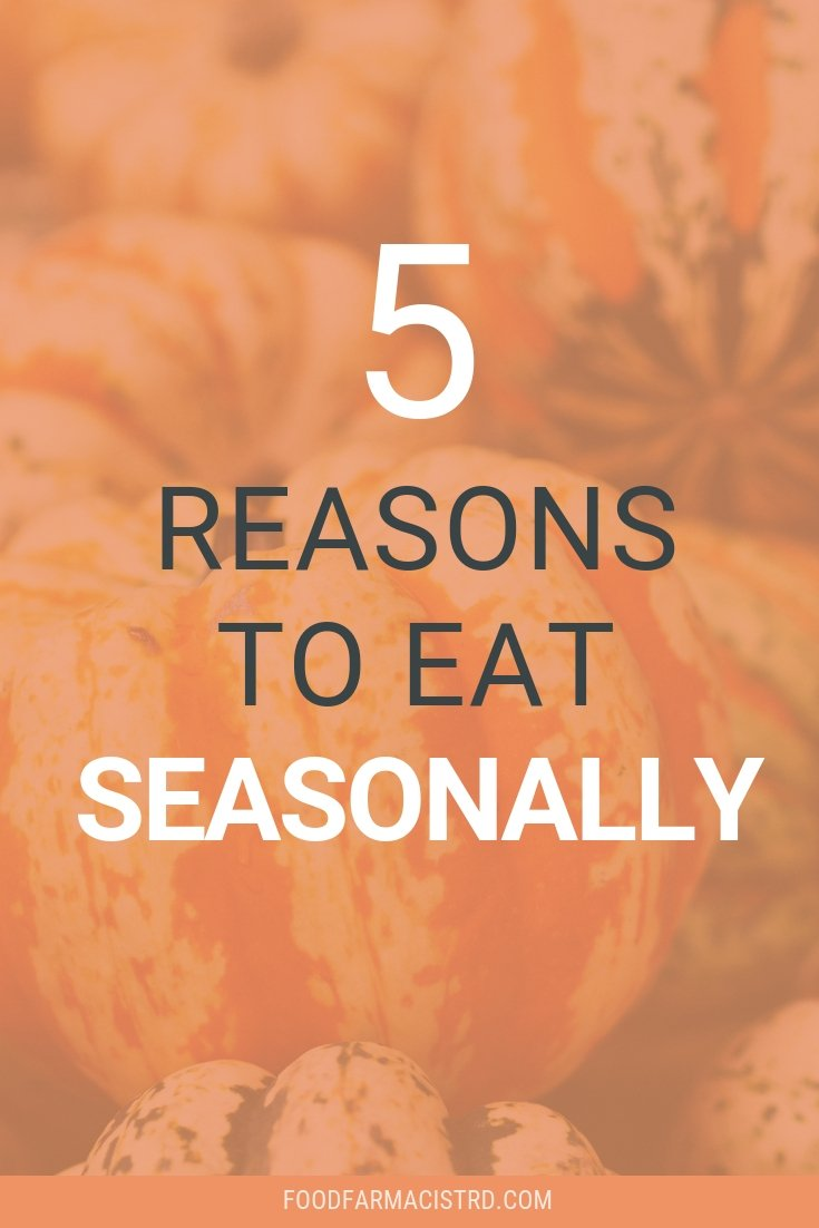 Eat seasonally, what's in season, seasonal food chart