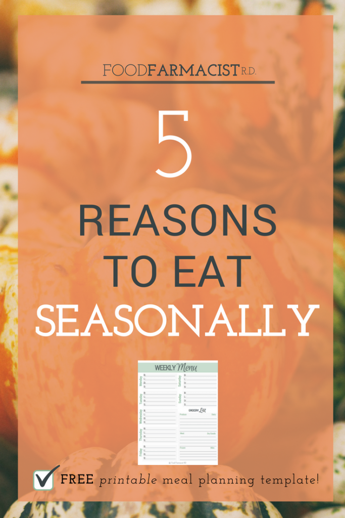 Eat Seasonally| Eat Local | Fall Recipes | Get your free meal planning template!