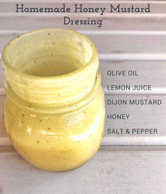 This dairy-free homemade honey mustard salad dressing beats out ANY store-bought variety! The creamy texture is perfect to pair with a tossed salad, or to use as a dipping sauce! |Easy salad dressings| Homemade dressings