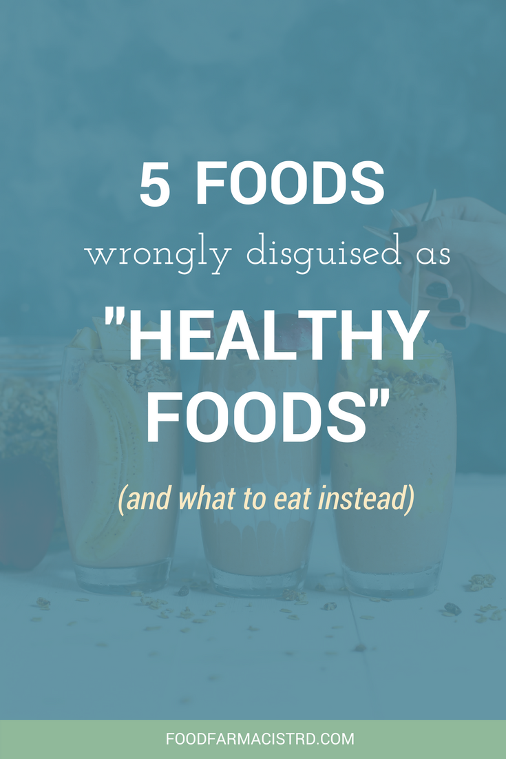 Marketing claims can make it hard to distinguish a healthy food from a junk food. Here's five foods wrongly disguised as a healthy food!