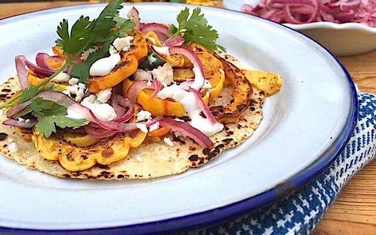 Delicata squash tacos
