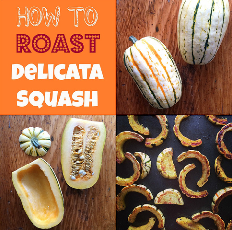 Roasted delicata squash - with cinnamon