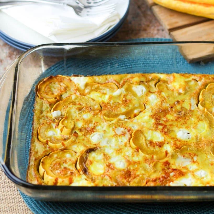 delicata squash egg bake