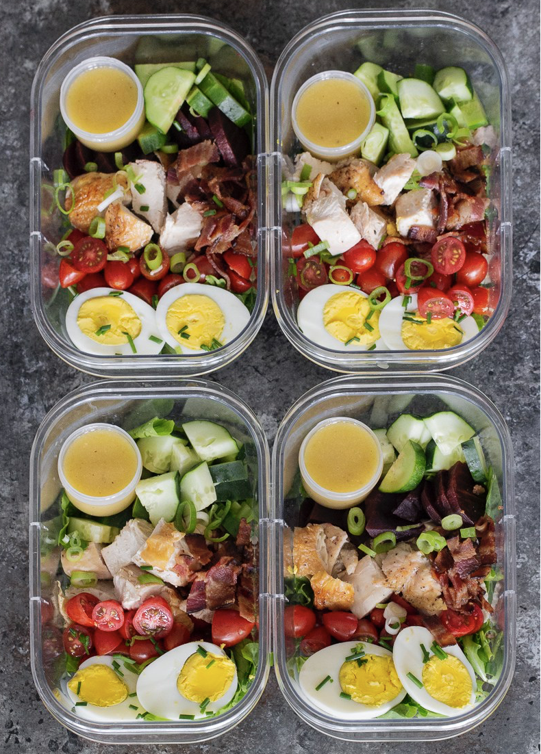 Lunch ideas - cobb salad meal prep