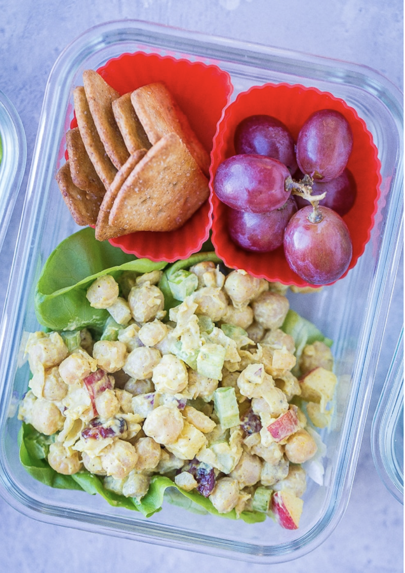 Curried chickpea salad - lunch idea for work