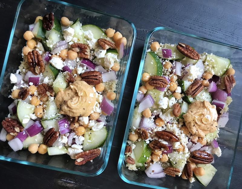 Mediterranean quinoa bowl - easy meal prep lunch idea