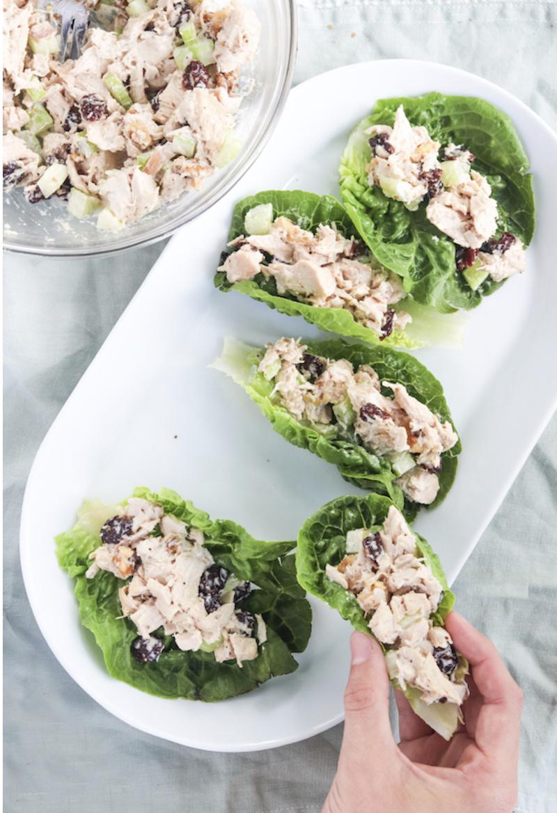 Lunch ideas for work - healthy chicken salad