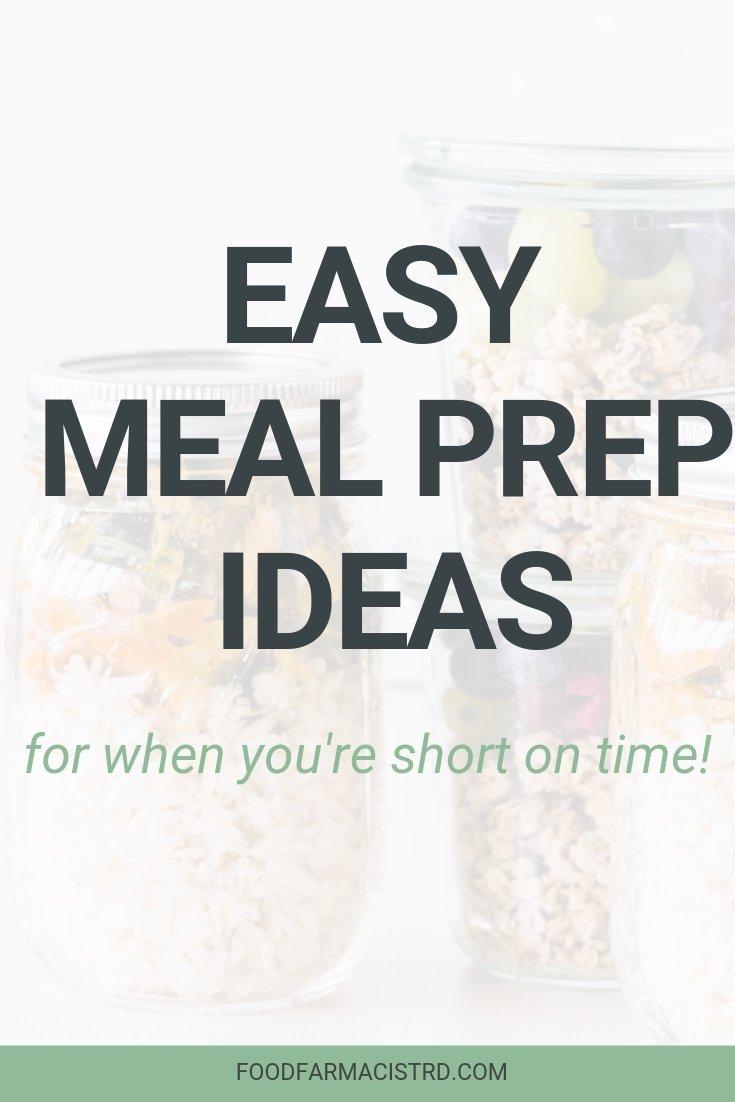 Easy meal prep ideas | Healthy meal prep ideas