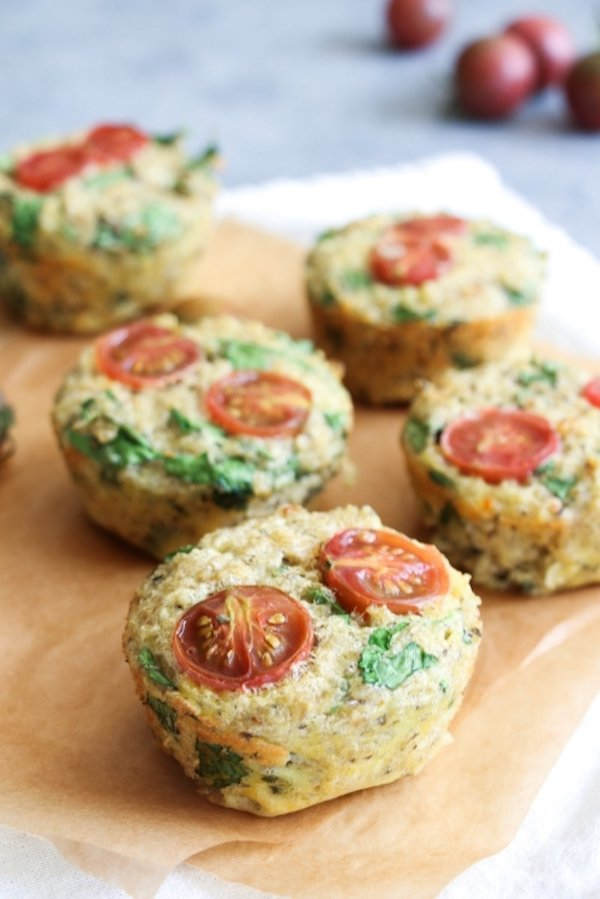 Easy spinach quinoa muffin recipe