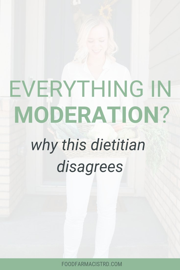 Eating in moderation | Everything in moderation | Balanced Nutrition