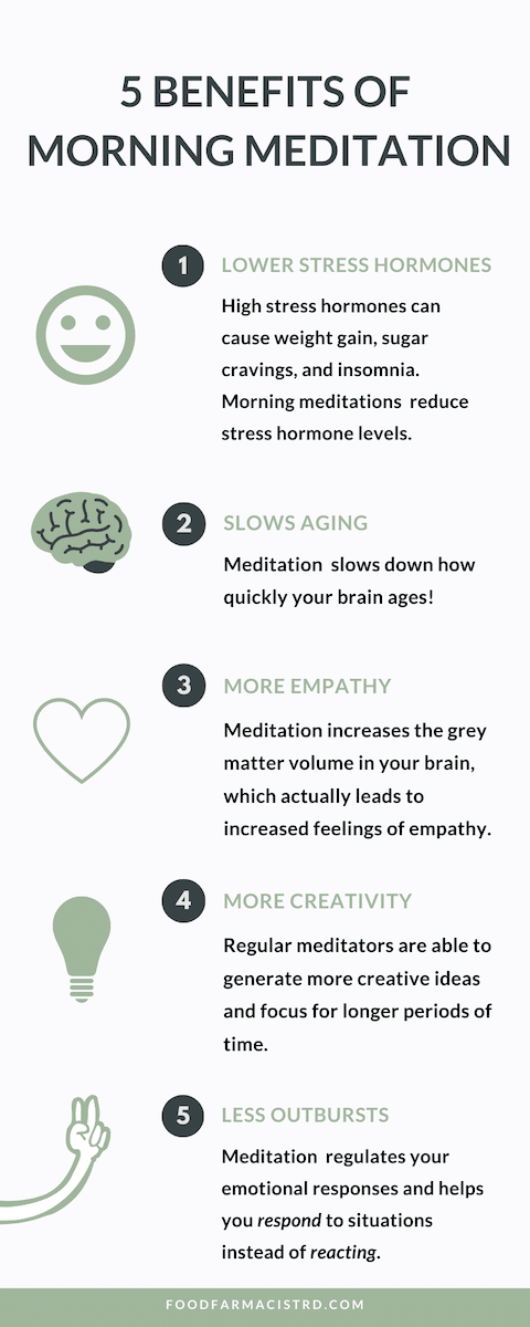 5 benefits of morning meditation list
